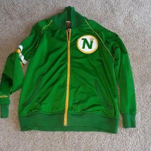 Minnesota north stars throwback jacket